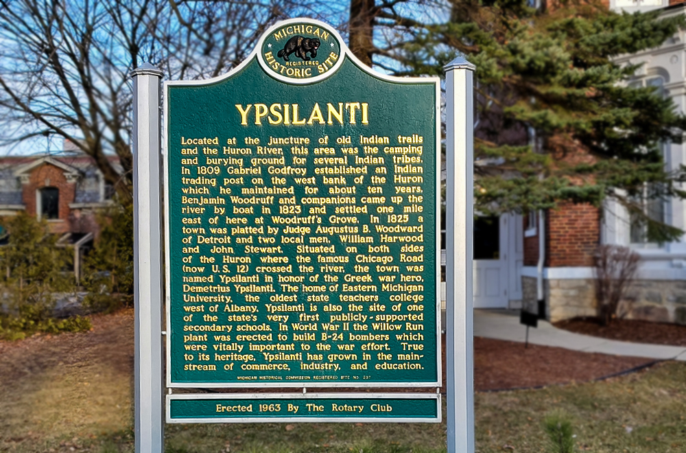 Ypsilanti Historical Sign